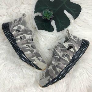 Reebok Ortholite camo print sneaker shoes Sz 13